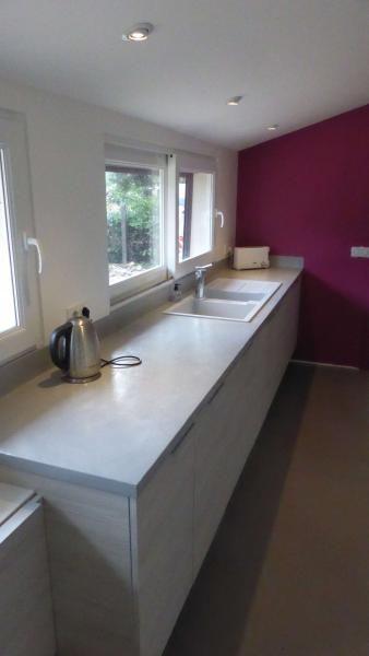 Plan de travail de cuisine en beton cire Rouen BÉTON CIRÉ - küchenarbeitsplatte aus beton