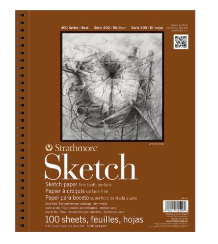 Strathmore 400 Series Recycled Sketch Pad 100 Sheets 9x12/""