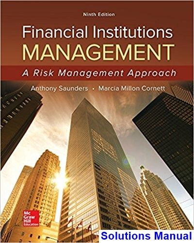 Solutions Manual For Financial Institutions Management A