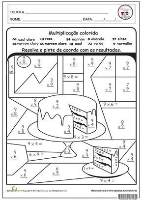 Sos Professor Atividades Multiplicacao Colorida Atividades De