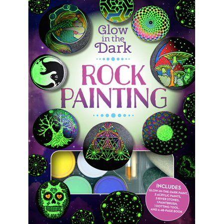 Glow In The Dark Rock Painting Walmart Com Painted Rocks Rock Painting Patterns Glow In The Dark