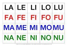 Silbenkärtchen Grossbuchstaben Pdf Für Die Kinder