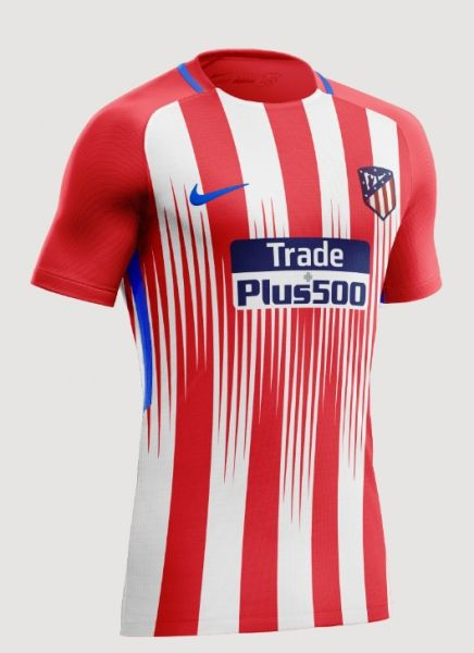 b983b8a7c25 Atletico Madrid Home Shirt 2018/2019 | Kits Jersey | Soccer shirts ...
