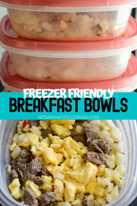 Prepare your freezer in advance to prep-ahead with these Freezer Friendly Breakfast Bowls! This is a great option if you are going to be at home for an extended period or even just to have on hand. Healthy Breakfast On The Go, Frozen Breakfast, Make Ahead Breakfast Sandwich, Breakfast Bowls, Mexican Breakfast, Breakfast Pizza, Breakfast Recipes, Breakfast You Can Freeze, Breakfast To Go