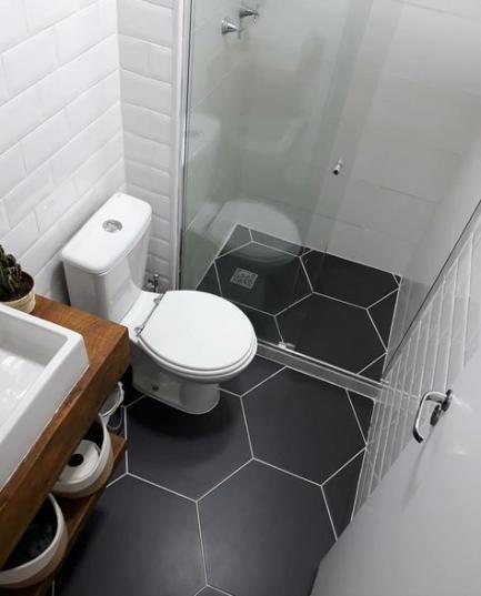 65 Ideas Apartment Decorating Black And White Simple Small Bathroom Bathroom Interior Garage Bathroom
