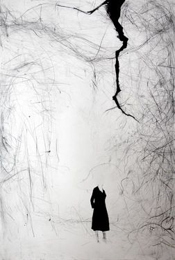 """Artist Tiina Kivinen; Printmaking, """"Sparrow  """""""