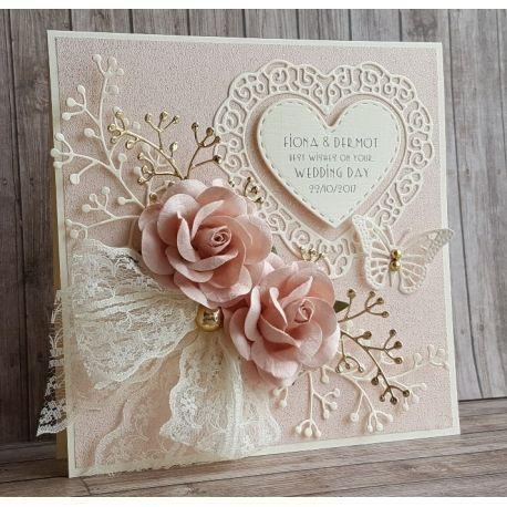 Handgemachte Hochzeitskarte WE014