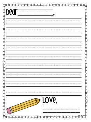 at the end of the year have students write notes to themselves to - letter writing template