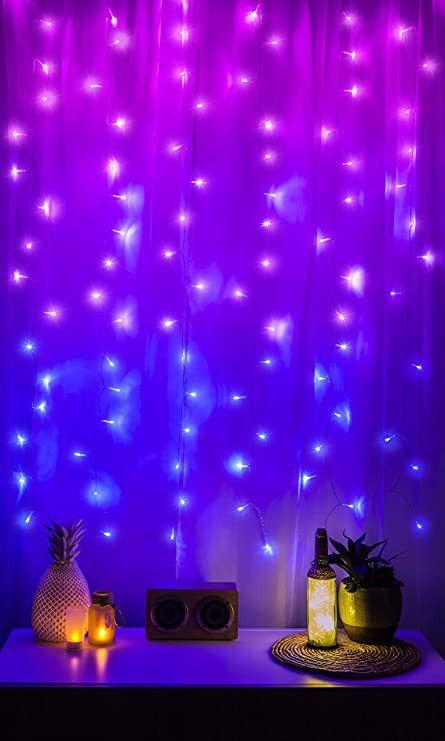 Led Lighting For Bedroom Amazon Merkury Innovations Cascading Led Window In 2020 Led Lighting Bedroom Led Curtain Curtain Lights