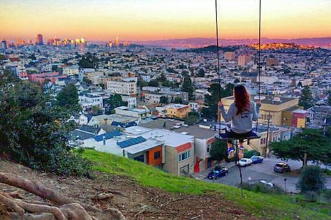 The 15 Most Beautiful Spots In San Francisco #refinery29 http://www.refinery29.com/outdoor-spaces-san-francisco#slide-5 Billy Goat Hill ParkOne of the most popular features of Billy Goat Hill Park has to be the rope swing overlooking S.F.'s cityscape. While the swing was recently cut down, there are still plenty of spots where you can soak up the view. From hiking to Instagram-worthy backgrounds, this...