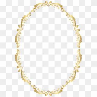 Golden Oval Border Transparent Png Clip Art Gold Floral Frame Oval Png Png Download Circle Frames Gold Frame