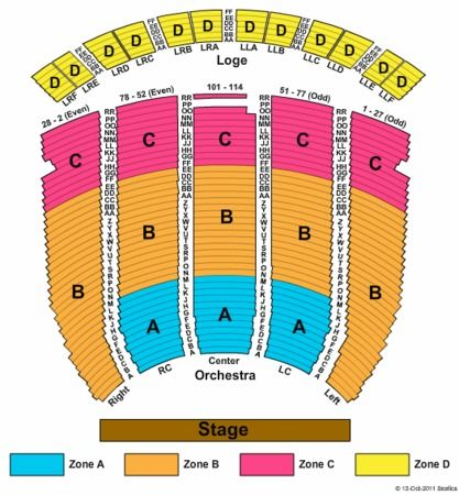 Prince Concert 211 00 In Orchestra Fabulous Fox Seating Charts Theatre