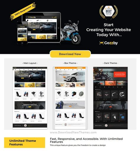 Best 3in1 Automotive Business Multipurpose PrestaShop Theme