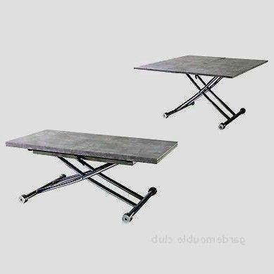 Superbe Table Basse Relevable Pas Cher Conventionnel Di 2020