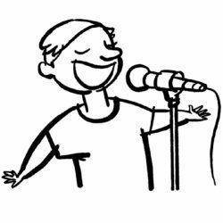 Dibujo De Cantante Para Imprimir Y Colorear Oficios Y Profesiones Dibujos De Profesiones Dibujos Para Colorear