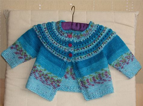 835 best SWEATER BABY TOP DOWN images on Pinterest | Baby cardigan ...
