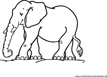 Ausmalbild Elefant Kostenlos Ausdrucken Elefant Ausmalbild Ausmalbilder Ausmalen