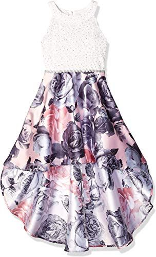 SPEECHLESS Girls Party Dress with Dramatic High-Low Taffeta Skirt Special Occasion Dress