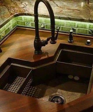 Custom Sink For Bird Bowls To Dry See Left Customkitchendesign Salvabrani Haus Umbau Küchenideen Diy Moderne Küche