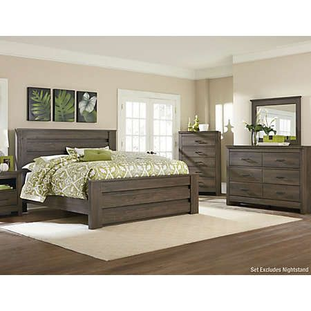 Haywood Weathered Brown King Bedroom Set Chambre A Coucher Bois