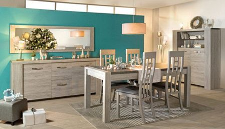 Table L 180 Rectangulaire Malone Chene Gris Decoration Gris Mobilier De Cuisine Table