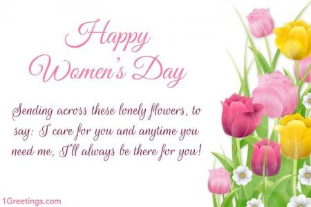 Beautiful Flower Happy Women S Day Card Messages 2020 Happy
