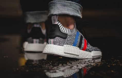 adidas NMD R1 PK 'White Tri Color' W On Foot