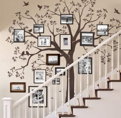 Wandtattoo 12 VOGEL Stammbaum Familie Wandbilder Bilderrahmen Bilderrahmen Baum