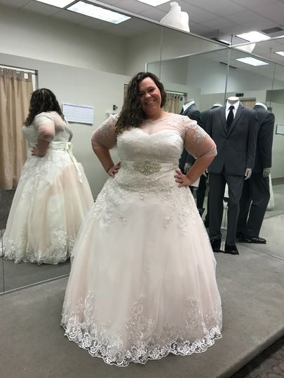 Beaded Lace And Tulle Plus Size Wedding Dress David S Bridal Davids Bridal Wedding Dresses Dresses Beaded Lace