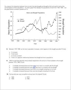 Population Ecology Worksheet Answer Key - worksheet