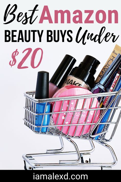 Are you looking for some affordable beauty products?  Check out my blog post for 20 of my favorite Amazon beauty must haves to buy all under $20!  These beauty hacks are affordable and you don't have to leave your house to get them!  Makeup products, skincare, hair care and nail polish to name a few. #amazonmusthaves #beautyproducts #beautyhacks
