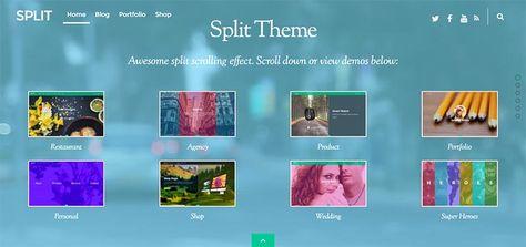Split Responsive WordPress Theme with Split Scrolling http://www.themesandmods.com/premium-wordpress-themes/split/