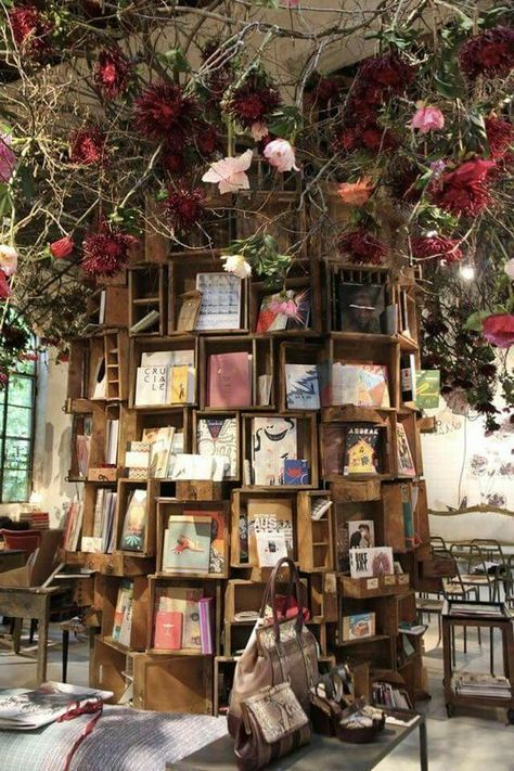 12 Garden Libraries That Are Perfect for Spring Reading is part of Book cafe - Don't worry — there's even a great solution for rainy climates! Beautiful Library, Dream Library, Library Books, Library Home, Library Ideas, Book Cafe, Book Store Cafe, Home Libraries, Public Libraries