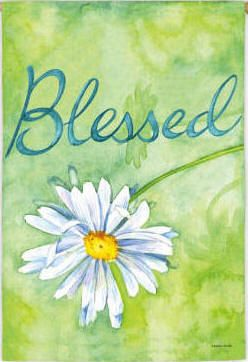 Blessed Decorative Inspirational House Flag