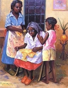 Three Generations by Hulis Mavruk # Braids african american daughters Three Generations by Hulis Mavruk