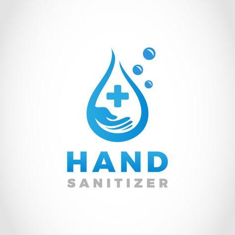 Water Drop Hand Wash Sanitizer Logo Design Wash Logo Logo Design Water Drop Logo