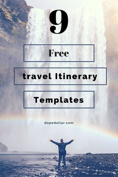 Free Travel Itinerary Templates For Travel, Flight \ Vacations - travel itinerary template