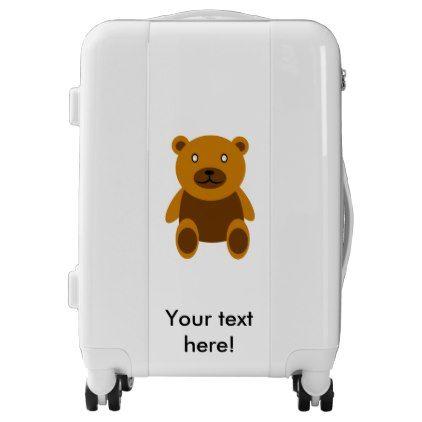 Brown Teddybear Clipart Luggage Bear Stuffed Animal Luggage Bear Drawing
