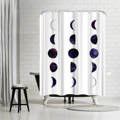 East Urban Home Elena David Moon Phases Single Shower Curtain Wayfair Shower Curtain Art Shower Curtain Curtains