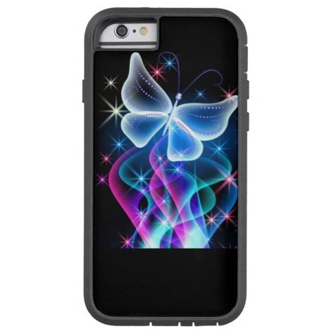 pretty blue butterfly tough xtreme iPhone 6 case