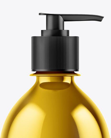 Metallic Liquid Soap Bottle Mockup In Bottle Mockups On Yellow Images Object Mockups Liquid Soap Bottle Mockup Soap Bottle