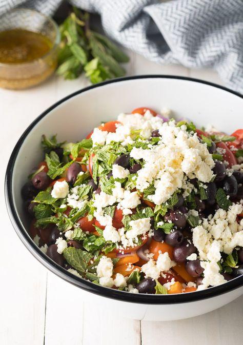 How To: Mediterranean Quinoa Salad Bowl Recipe #ASpicyPerspective #cucumber #tomatoes #greek