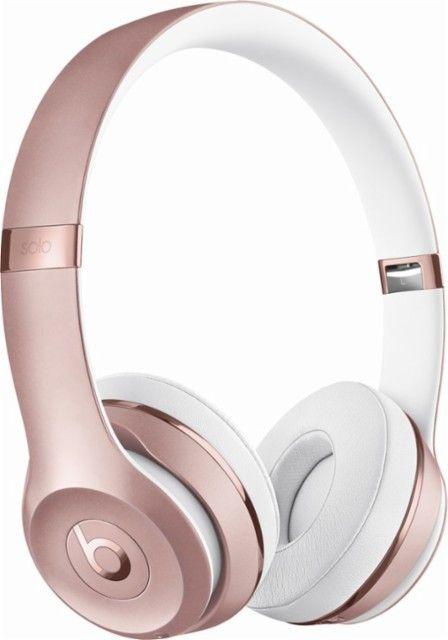 Beats By Dr Dre Beats Solo3 Wireless Headphones Rose Gold Angle Zoom Wireless Beats Wireless Headphones Beats Headphones