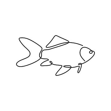 سمكة واحدة خط الرسم ناقلات التوضيح أسلوب بساطتها السمك سمك المتجه Png والمتجهات للتحميل مجانا Line Drawing Line Art Vector Illustration
