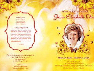 Free Funeral Program Templates Bountiful-life-funeral-program - funeral obituary template