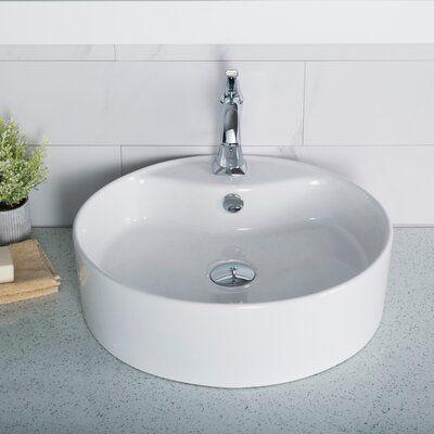 Kraus Thin Ceramics Circular Vessel Bathroom Sink With Overflow In 2021 Bathroom Sink Sink Cheap Bathroom Remodel