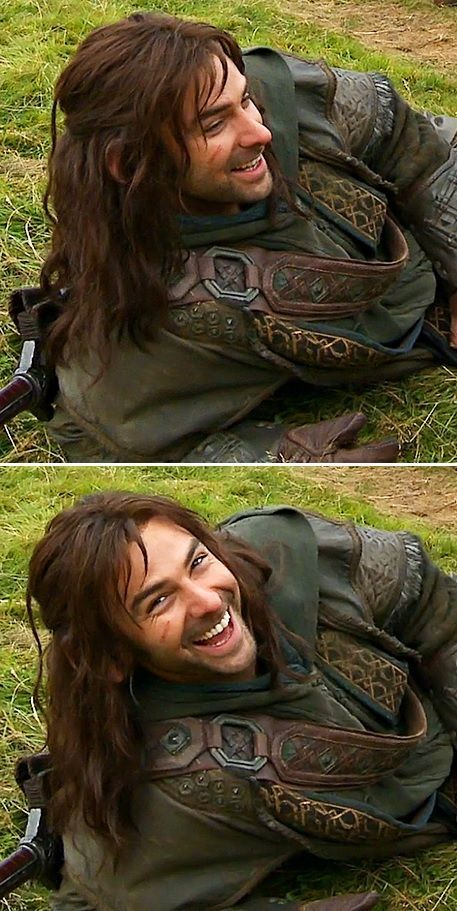 Aidan Turner as Kili behind the Scenes of The Hobbit