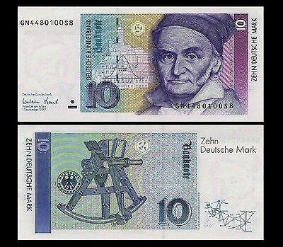 10 Dm Schein Neu Deutsche Mark Dm Scheine Carl Friedrich