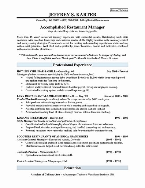 30 Restaurant Manager Resume Examples With Images Restaurant Management Manager Resume Resume Examples