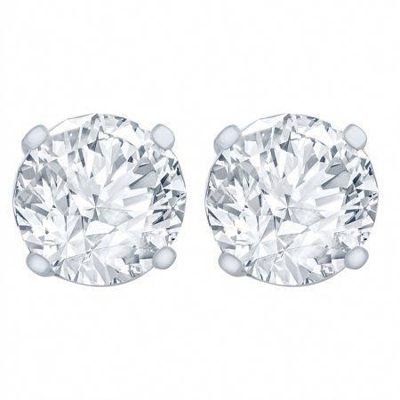 1 4 Carat Diamond Stud Earrings I1i2 Clarity Ij Color 14kt White Gold Women S Diamo White Diamond Stud Earrings Diamond Studs Diamond Earrings Studs Round